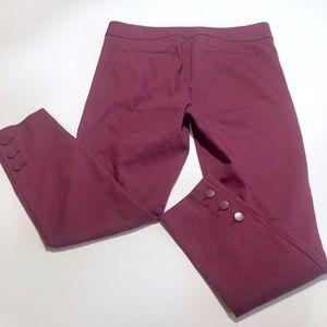 Loft Marisa Fit Button Ankle Trouser Pants 10